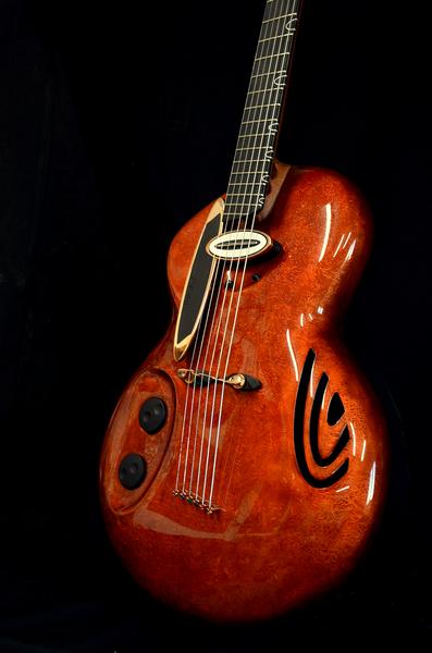 guitare electrique rose